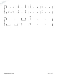 Waltz In C Minor-Yiruma Numbered Musical Notation Preview 6