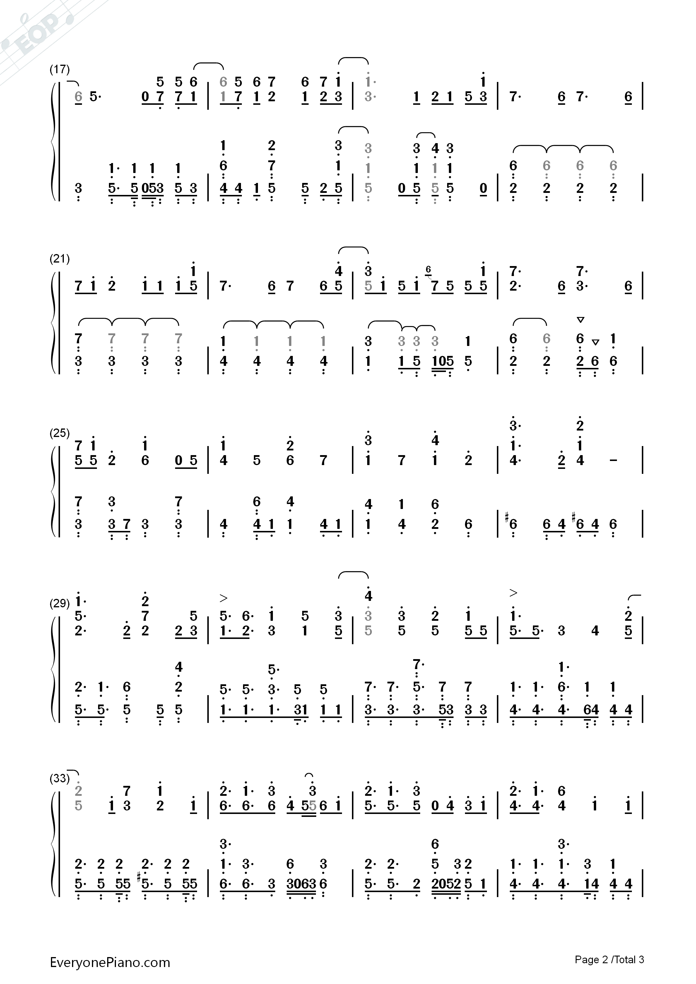 Writing Life-Yu-Gi-Oh! VRAINS ED Numbered Musical Notation