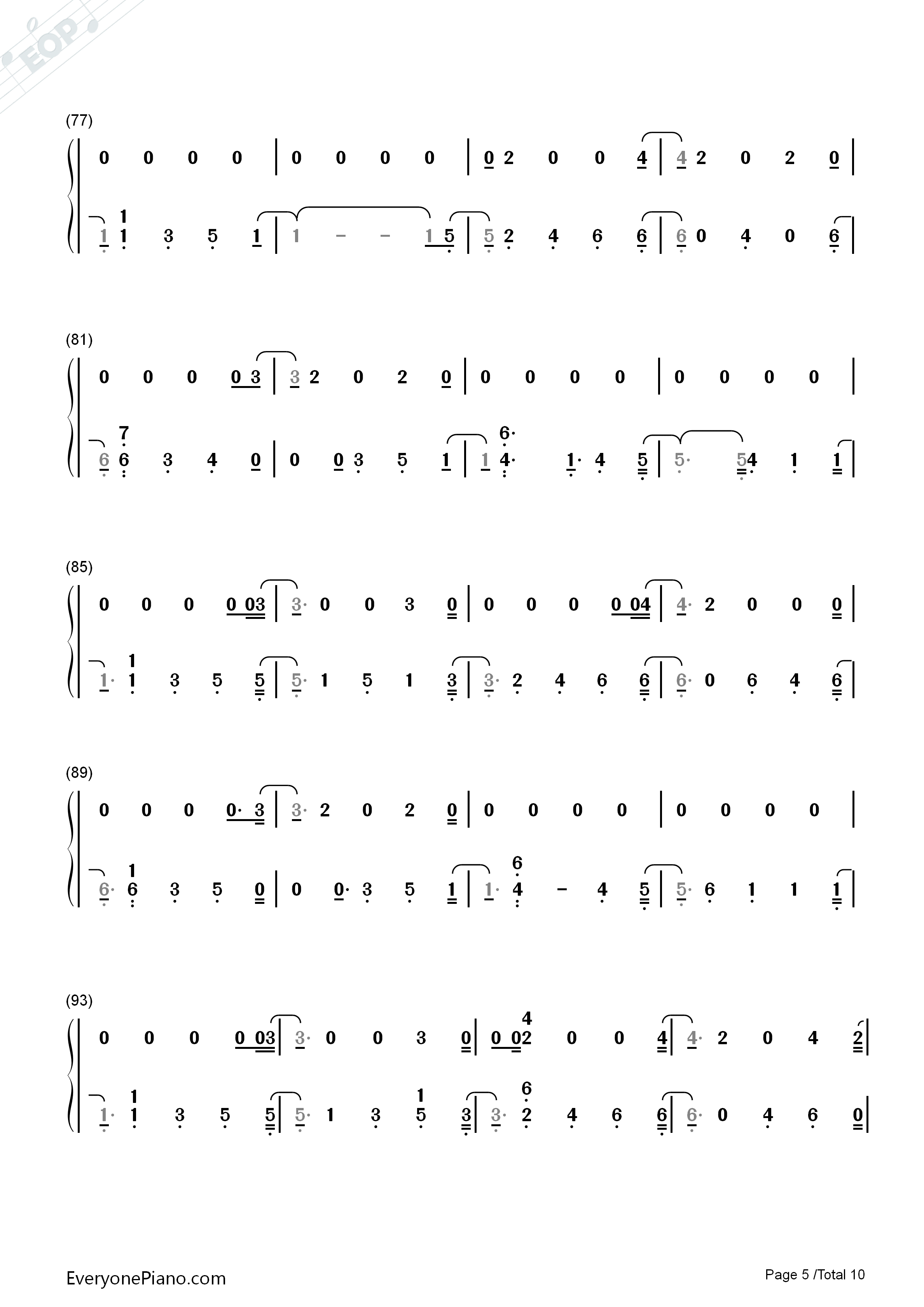 Delicate Taylor Swift Numbered Musical Notation Preview