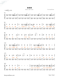 Hide and Seek-TFBOYS Numbered Musical Notation Preview 1