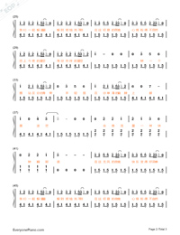 Hide and Seek-TFBOYS Numbered Musical Notation Preview 2