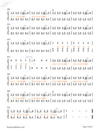 Hide and Seek-TFBOYS Numbered Musical Notation Preview 3