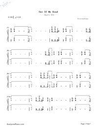 Out Of My Head-Charli XCX-Numbered-Musical-Notation-Preview-1