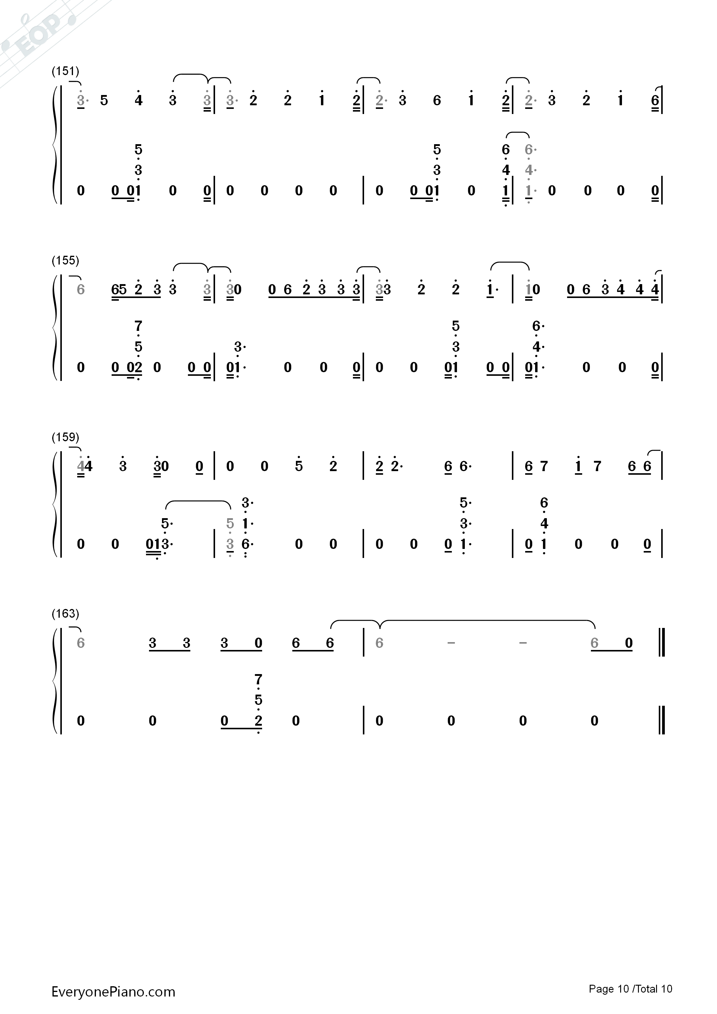 River Eminem Ft Ed Sheeran Numbered Musical Notation Preview