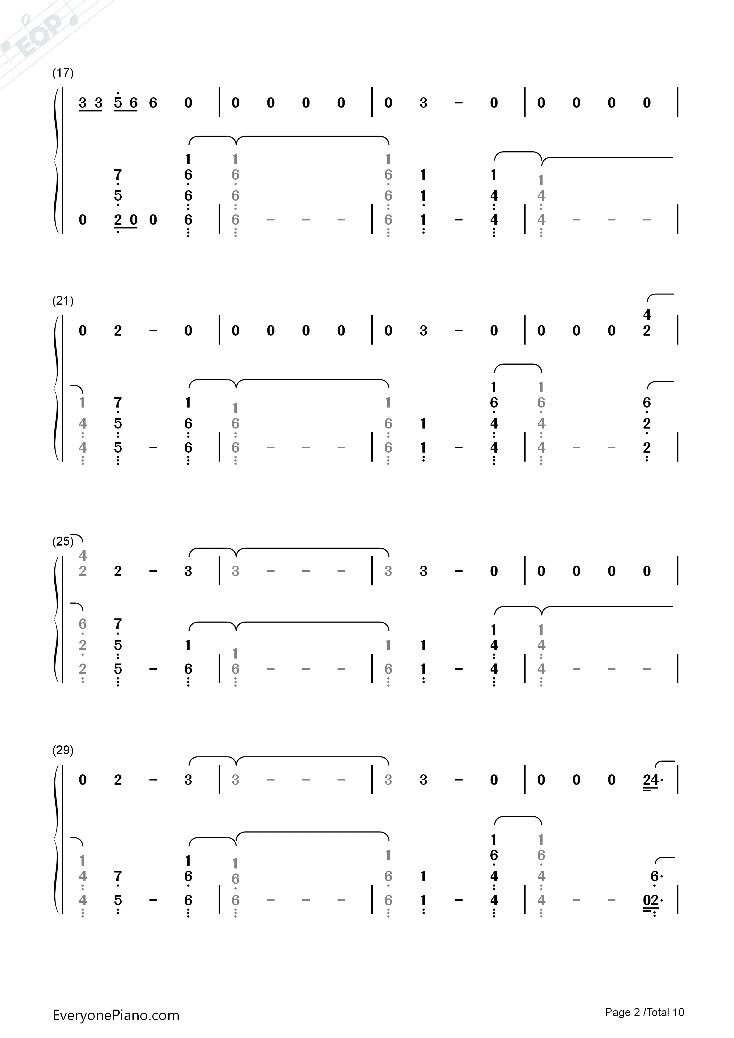 River-Eminem ft Ed Sheeran Numbered Musical Notation Preview 2