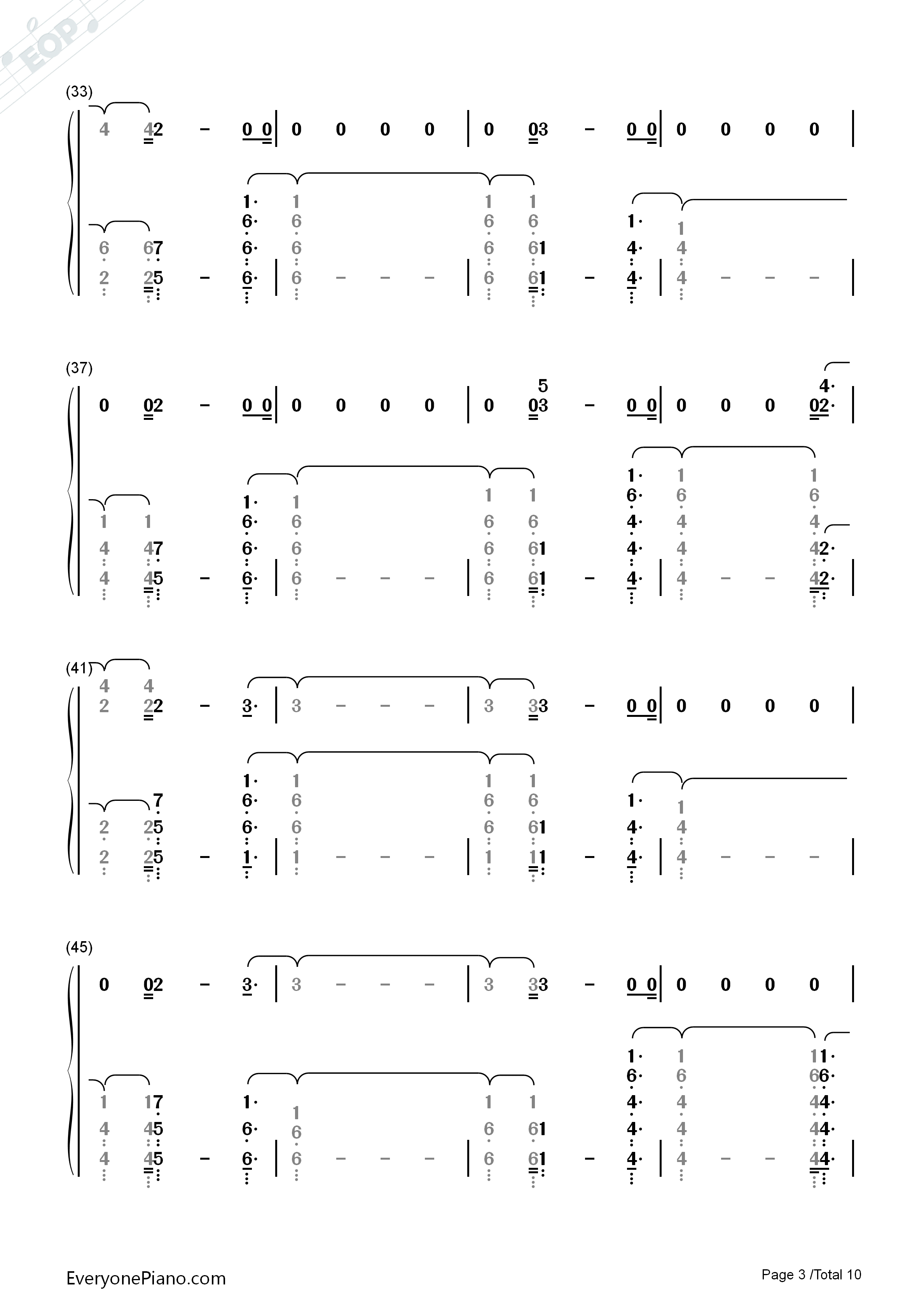 River Eminem Ft Ed Sheeran Numbered Musical Notation Preview Eop