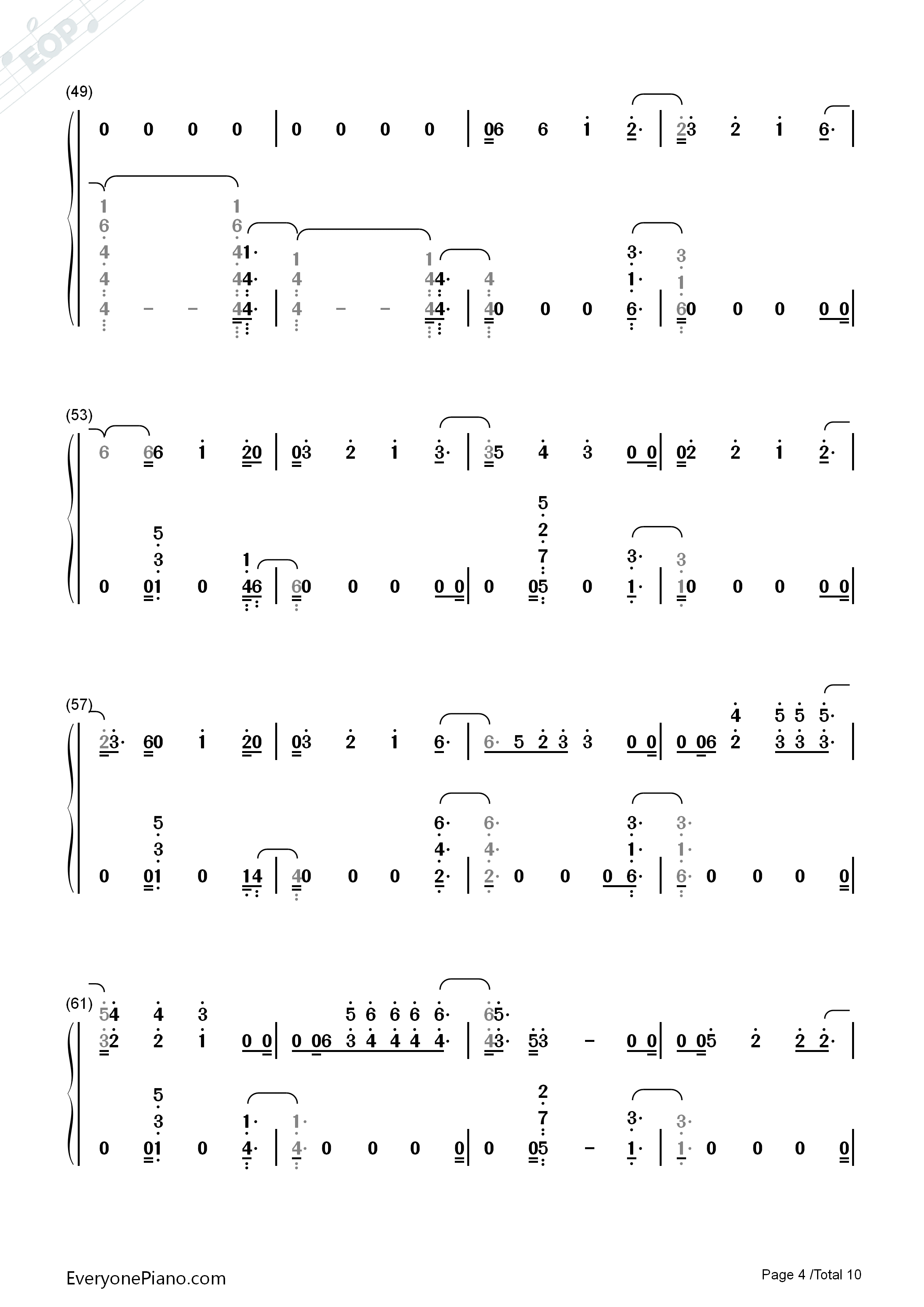 River-Eminem ft Ed Sheeran Numbered Musical Notation Preview 4
