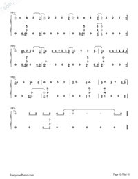 River-Eminem ft Ed Sheeran Numbered Musical Notation Preview 10