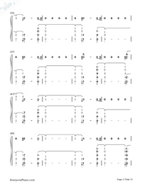 River-Eminem ft Ed Sheeran-Numbered-Musical-Notation-Preview-3
