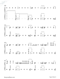 River-Eminem ft Ed Sheeran-Numbered-Musical-Notation-Preview-4