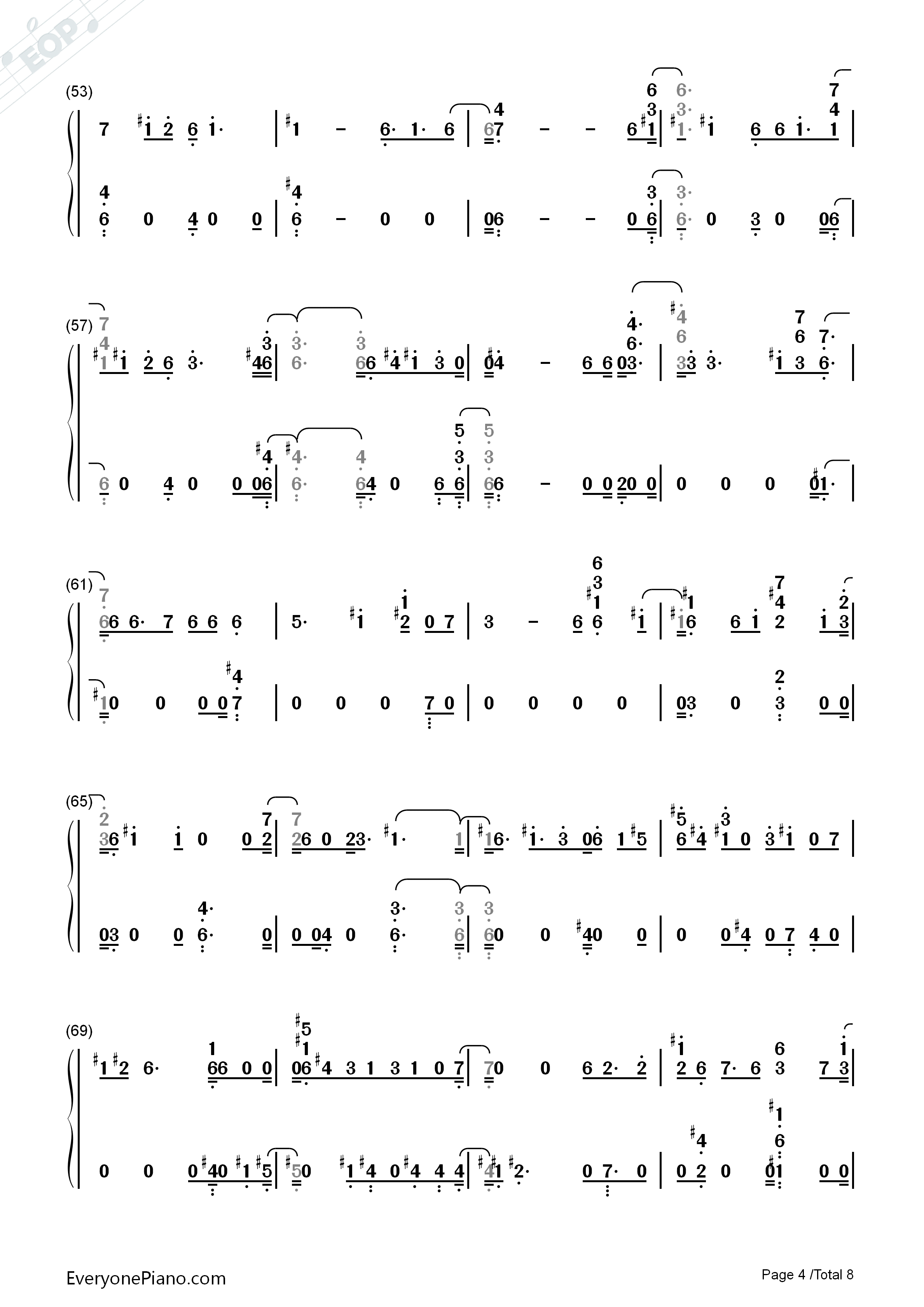 listen now print sheet this christmas kim tae yeon numbered musical notation preview 4 - This Christmas Chords