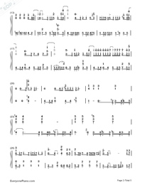 Break Up-Perfect Version Numbered Musical Notation Preview 2