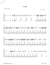 Panama-Matteo-Numbered-Musical-Notation-Preview-1