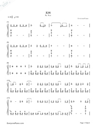Wu Wen-Forever Young Theme Song-Numbered-Musical-Notation-Preview-1