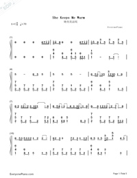 She Keeps Me Warm-Mary Lambert-Numbered-Musical-Notation-Preview-1