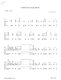 I Know You-Craig David ft Bastille-Numbered-Musical-Notation-Preview-1