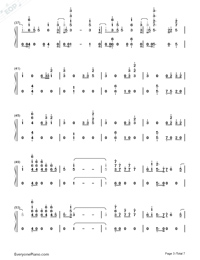 I Know You-Craig David ft Bastille-Numbered-Musical-Notation-Preview-3