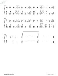 风の声を聴きながら-Slow Start ED両手略譜プレビュー3