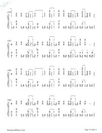 SAVIOR OF SONG-蒼き鋼のアルペジオ -アルス・ノヴァ-OP両手略譜プレビュー10