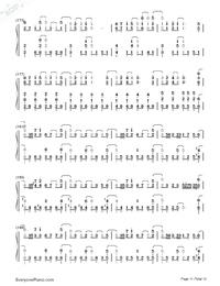 SAVIOR OF SONG-蒼き鋼のアルペジオ -アルス・ノヴァ-OP両手略譜プレビュー11