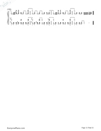 SAVIOR OF SONG-蒼き鋼のアルペジオ -アルス・ノヴァ-OP両手略譜プレビュー12