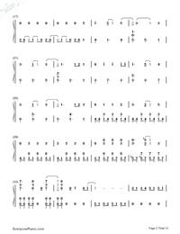 SAVIOR OF SONG-蒼き鋼のアルペジオ -アルス・ノヴァ-OP両手略譜プレビュー2
