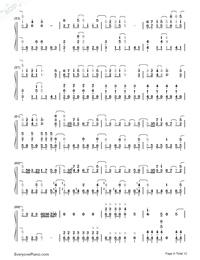 SAVIOR OF SONG-蒼き鋼のアルペジオ -アルス・ノヴァ-OP両手略譜プレビュー4