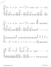 SAVIOR OF SONG-蒼き鋼のアルペジオ -アルス・ノヴァ-OP両手略譜プレビュー5