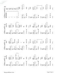 SAVIOR OF SONG-蒼き鋼のアルペジオ -アルス・ノヴァ-OP両手略譜プレビュー6