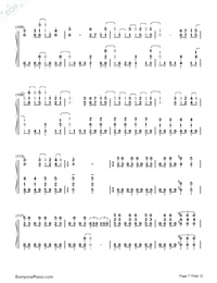 SAVIOR OF SONG-蒼き鋼のアルペジオ -アルス・ノヴァ-OP両手略譜プレビュー7