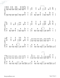 SAVIOR OF SONG-蒼き鋼のアルペジオ -アルス・ノヴァ-OP両手略譜プレビュー8