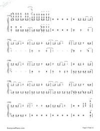 SAVIOR OF SONG-蒼き鋼のアルペジオ -アルス・ノヴァ-OP両手略譜プレビュー9