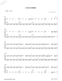 BINGBIAN-cubi,Aydo$-Numbered-Musical-Notation-Preview-1
