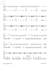 BINGBIAN-cubi,Aydo$-Numbered-Musical-Notation-Preview-2