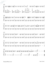 BINGBIAN-cubi,Aydo$-Numbered-Musical-Notation-Preview-3
