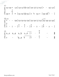 Sol La Sol Mi-Croisée in a Foreign Labyrinth OST Numbered Musical Notation Preview 3