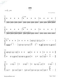 Love-Karen Mok-Numbered-Musical-Notation-Preview-1