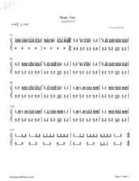Nyan Cat-Marc Ellis-Numbered-Musical-Notation-Preview-1