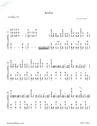 Acedia-Hatsune Miku-Numbered-Musical-Notation-Preview-1
