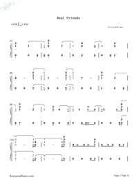 Real Friends-Camila Cabello-Numbered-Musical-Notation-Preview-1