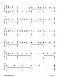 齊天-悟空傳主題曲雙手簡譜預覽3