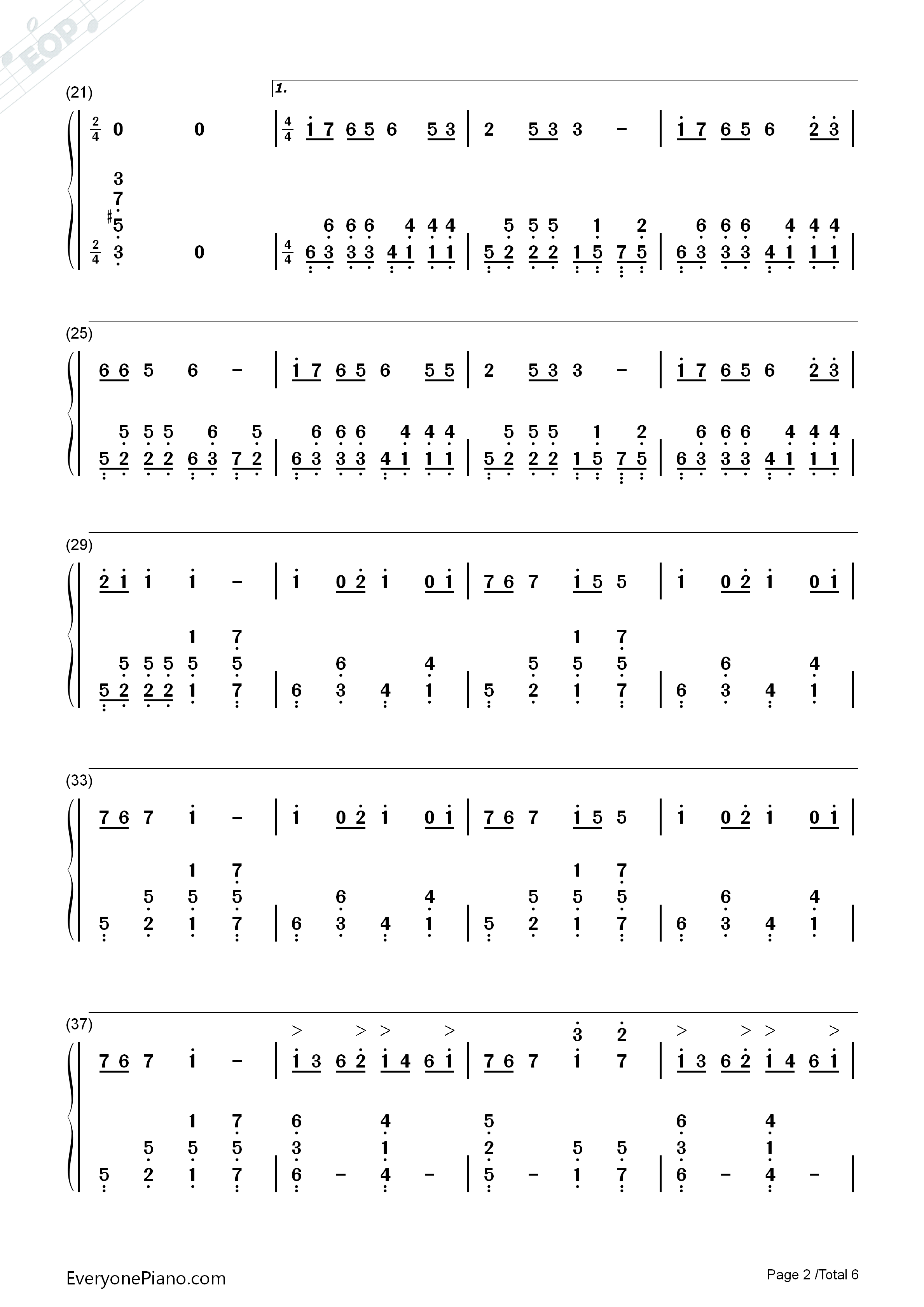 PLANET-Lambsey Numbered Musical Notation Preview 2