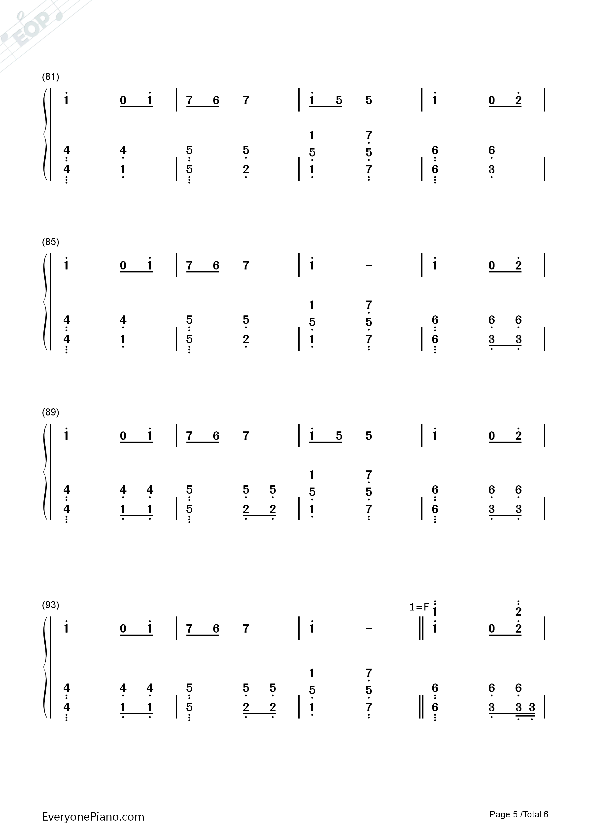 PLANET-Lambsey Numbered Musical Notation Preview 5