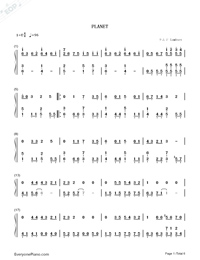 PLANET-Lambsey Numbered Musical Notation Preview 1