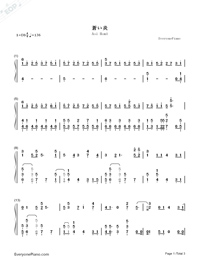 Aoi Honō-Black Clover ED-Numbered-Musical-Notation-Preview-1