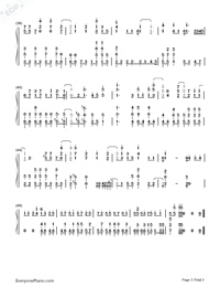 Aoi Honō-Black Clover ED-Numbered-Musical-Notation-Preview-3