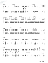 Uchiage Hanabi-Full Version-Numbered-Musical-Notation-Preview-2