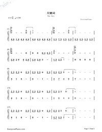 The Key-JJ Lin-Numbered-Musical-Notation-Preview-1