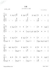 日常-恋とプロデューサー挿入歌両手略譜プレビュー1