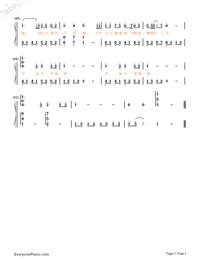 浴火成詩-烈火如歌片尾曲雙手簡譜預覽3